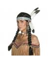 Perruque indienne avec tresses et bandeau | Accessoires