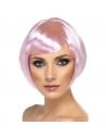 Perruque carrée frange rose | Accessoires