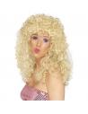 Perruque boogie longue frisée blonde   Accessoires