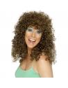 Perruque boogie longue frisée brune | Accessoires