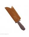 Couteau d'indien avec gaine en daim - 28 cm
