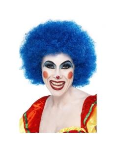 Perruque clown fou bleue | Accessoires