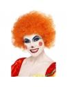 Perruque clown fou orange | Accessoires