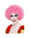 Perruque clown fou rose | Accessoires