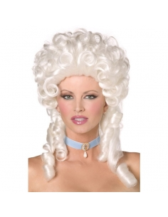 Perruque femme baroque blanche   Accessoires