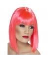 Perruque glamour coeurte rose | Accessoires