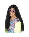 Perruque hippie noire | Accessoires