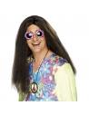 Perruque hippie brune   Accessoires