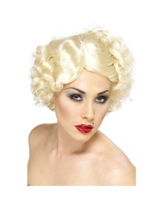 Perruque blonde icône Hollywood   Accessoires