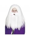 Perruque et barbe magicien | Accessoires