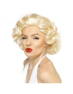 Perruque Maryline blonde | Accessoires